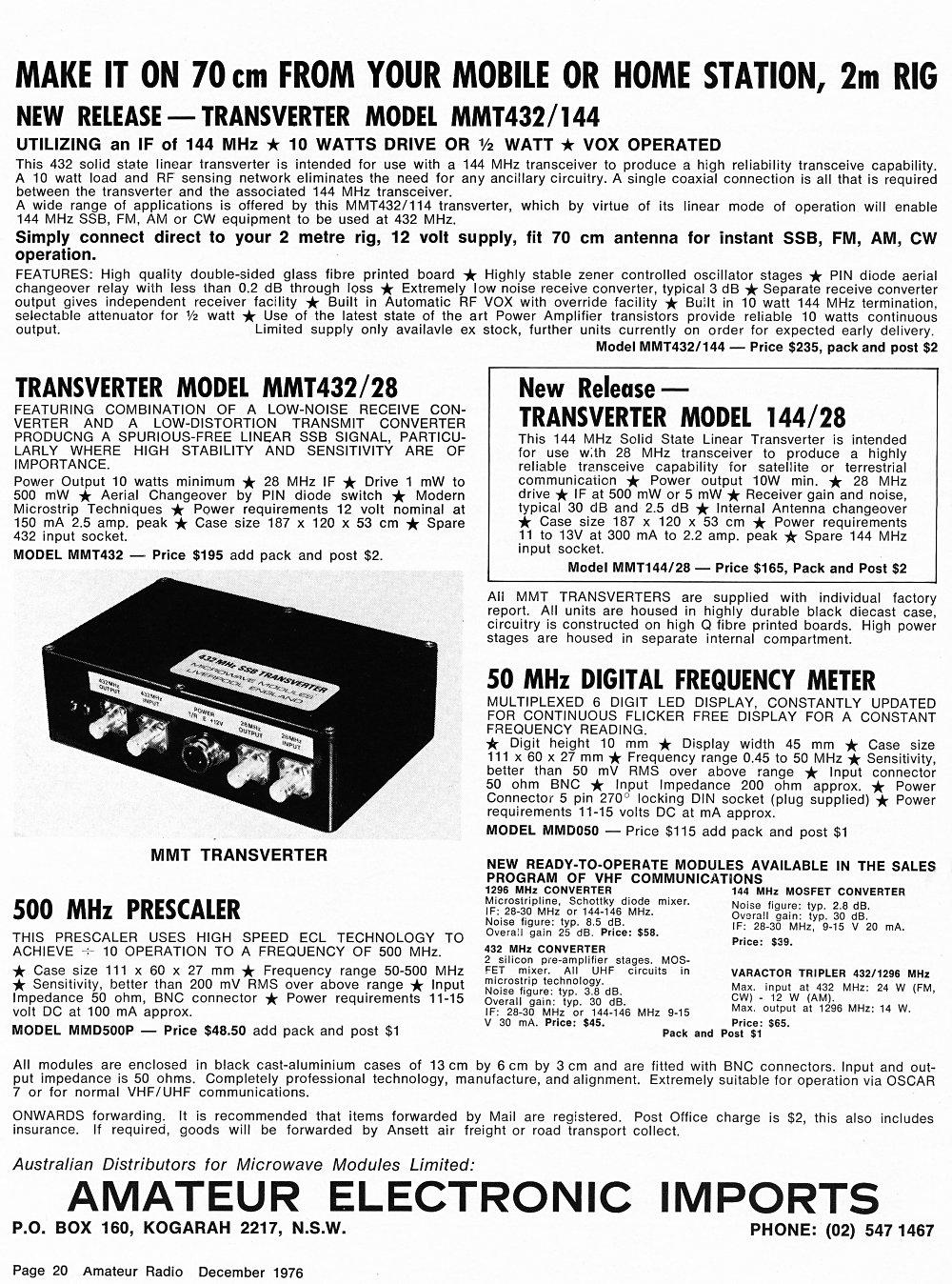 Amateur Radio Magazine 500mhz Pic Prescaler December